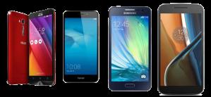 Quel smartphone choisir :  Honor 5C, Galaxy A3 (2016), Asus Zenfone 2 Laser et Lenovo Moto G4
