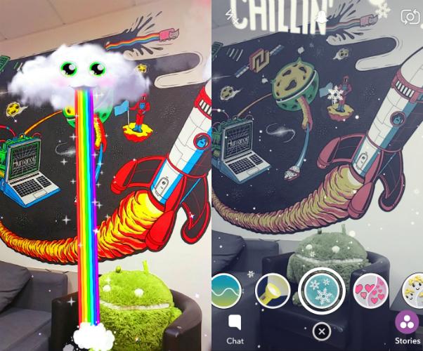Snapchat décore votre quotidien avec de nouveaux filtres, les World Lenses