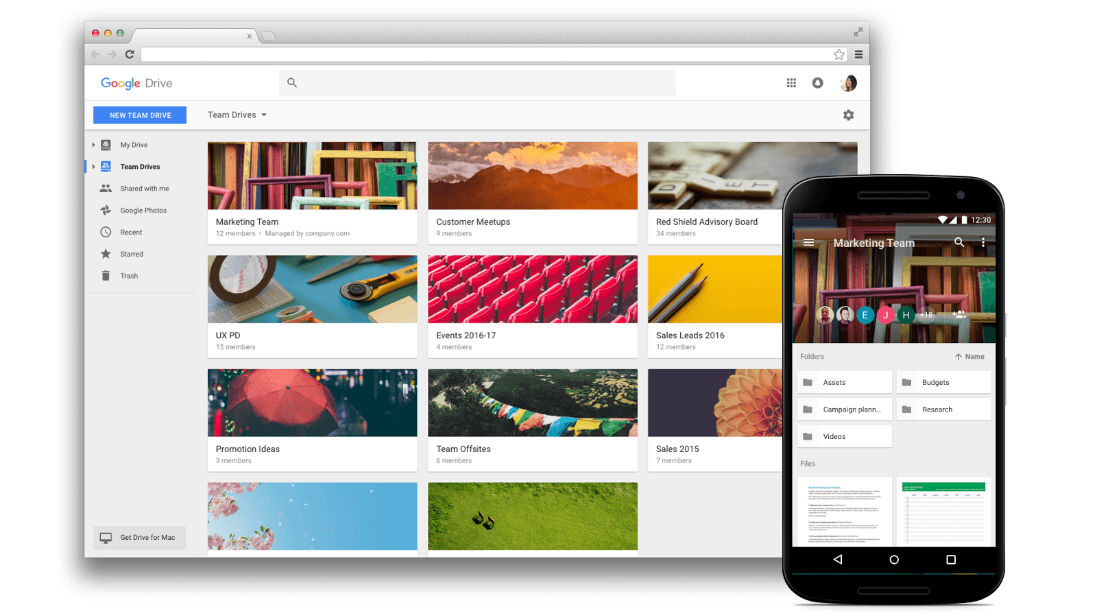 Google Drive : Team Drives va faciliter le travail en équipe