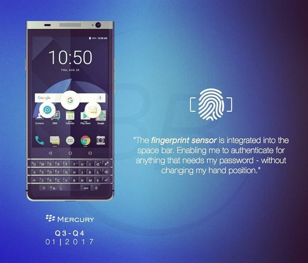 DTEK 70 : le design du futur BlackBerry se précise
