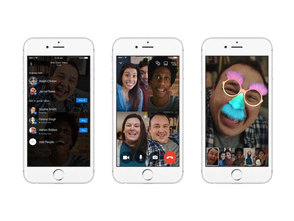 Facebook Messenger se met aux vidéoconférences à plusieurs