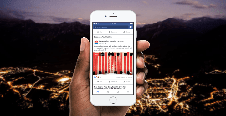 Avec Live Audio, Facebook veut rendre la radio plus interactive