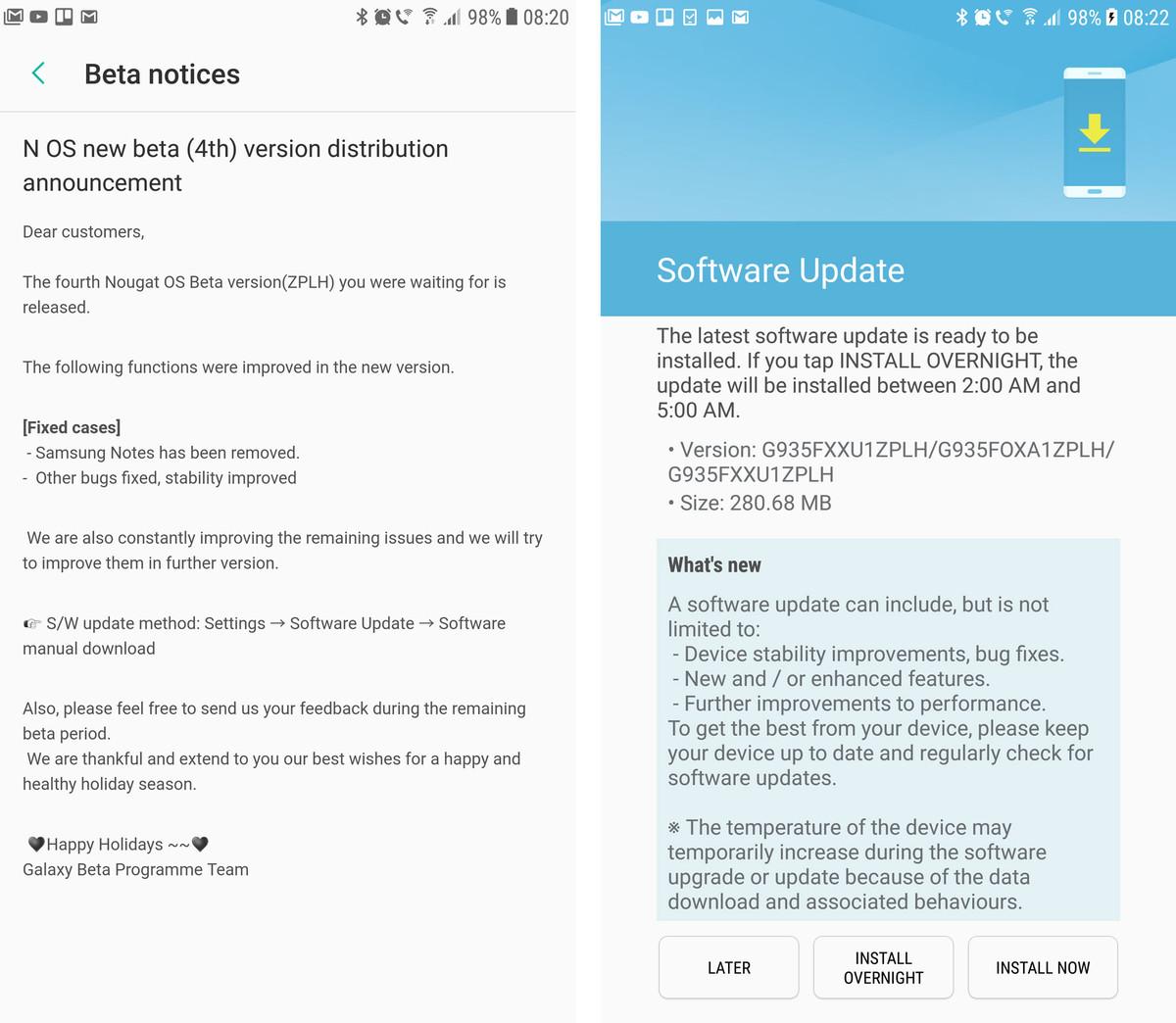 Samsung Galaxy S7 et S7 edge : la mise à jour Nougat commence à être déployée