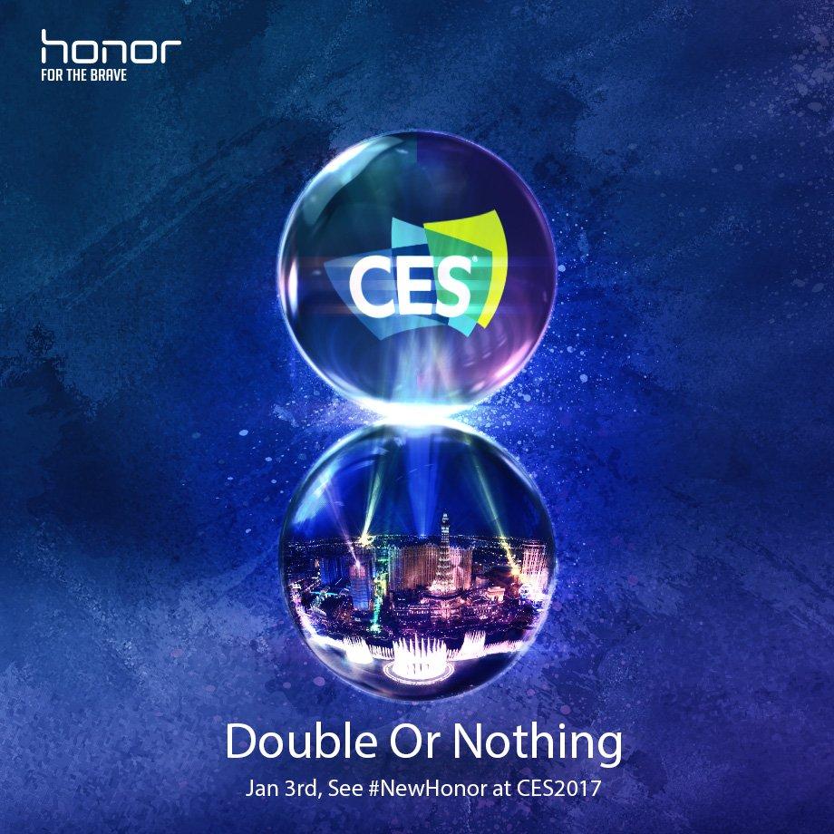 Honor tease un nouveau smartphone à double capteur pour le CES 2017