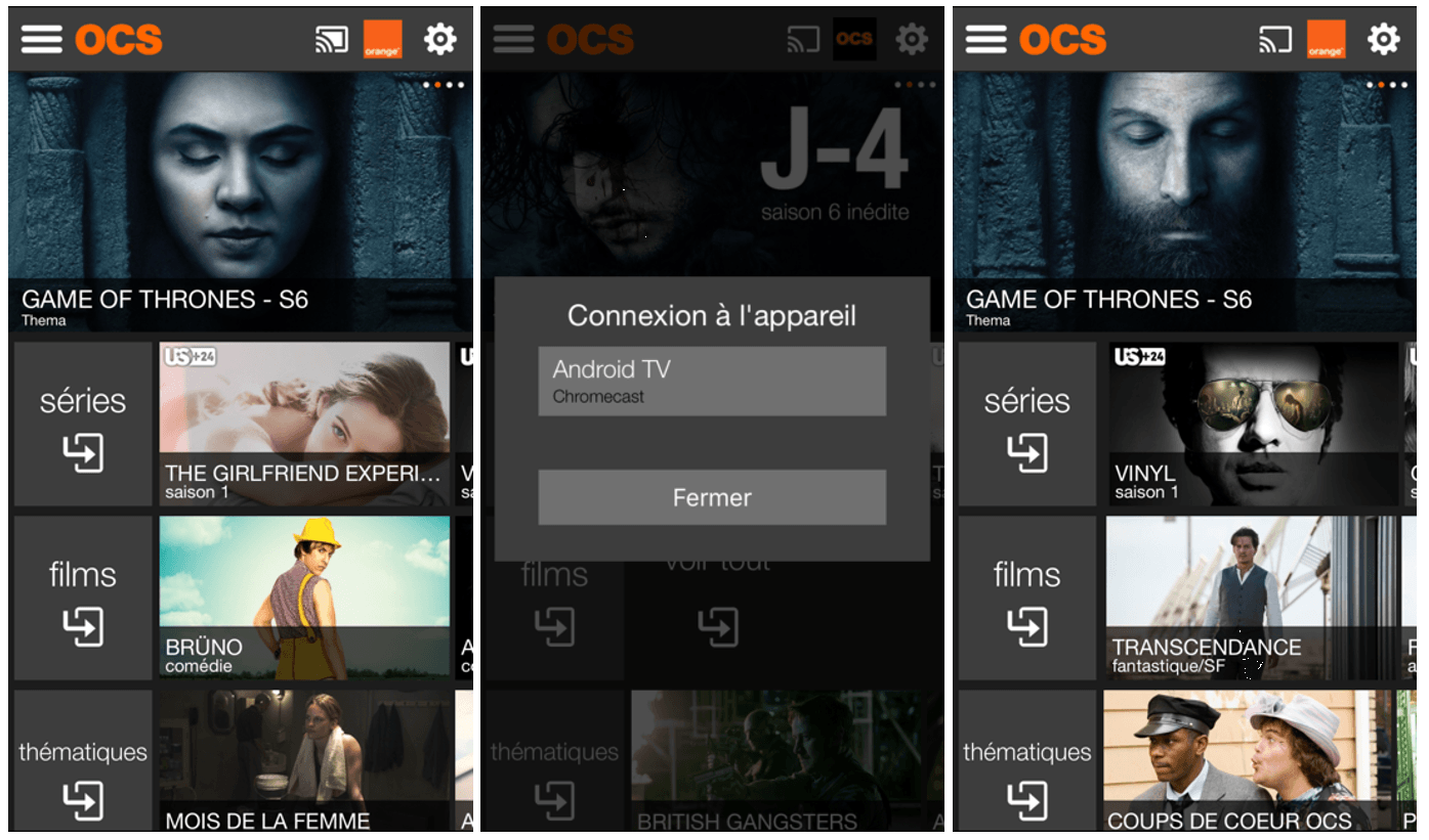 OCS améliore son intégration avec Android TV