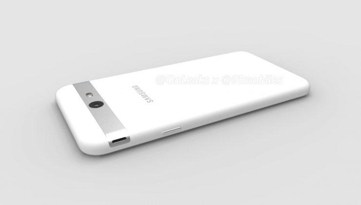 Samsung Galaxy J7 (2017) : un rendu 3D dévoile un haut-parleur étrangement placé