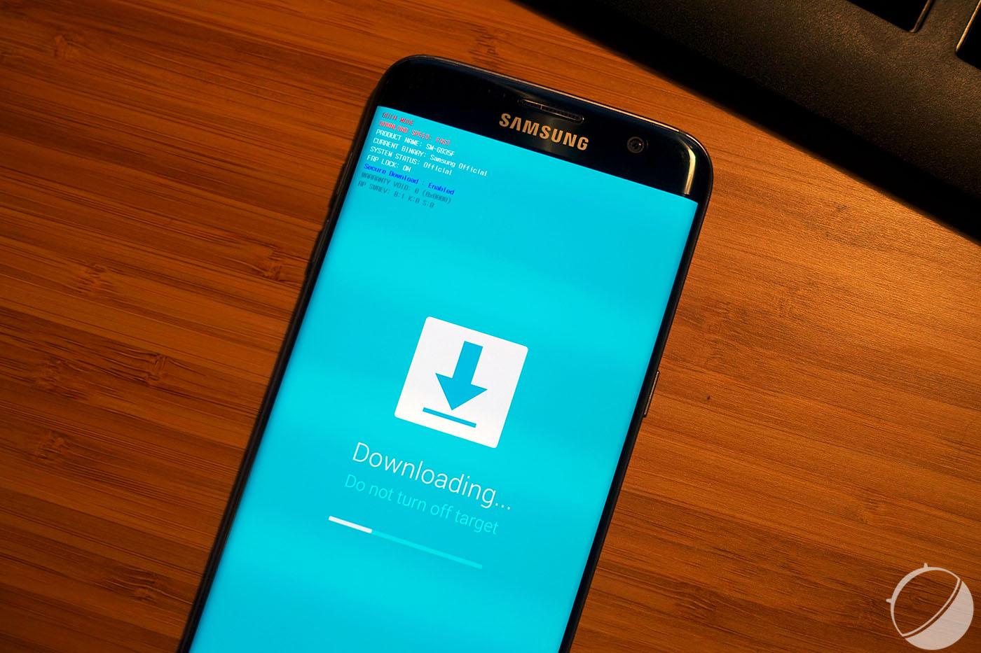 Samsung Galaxy S7 Edge : la beta d'Android 7.0 Nougat se met encore à jour