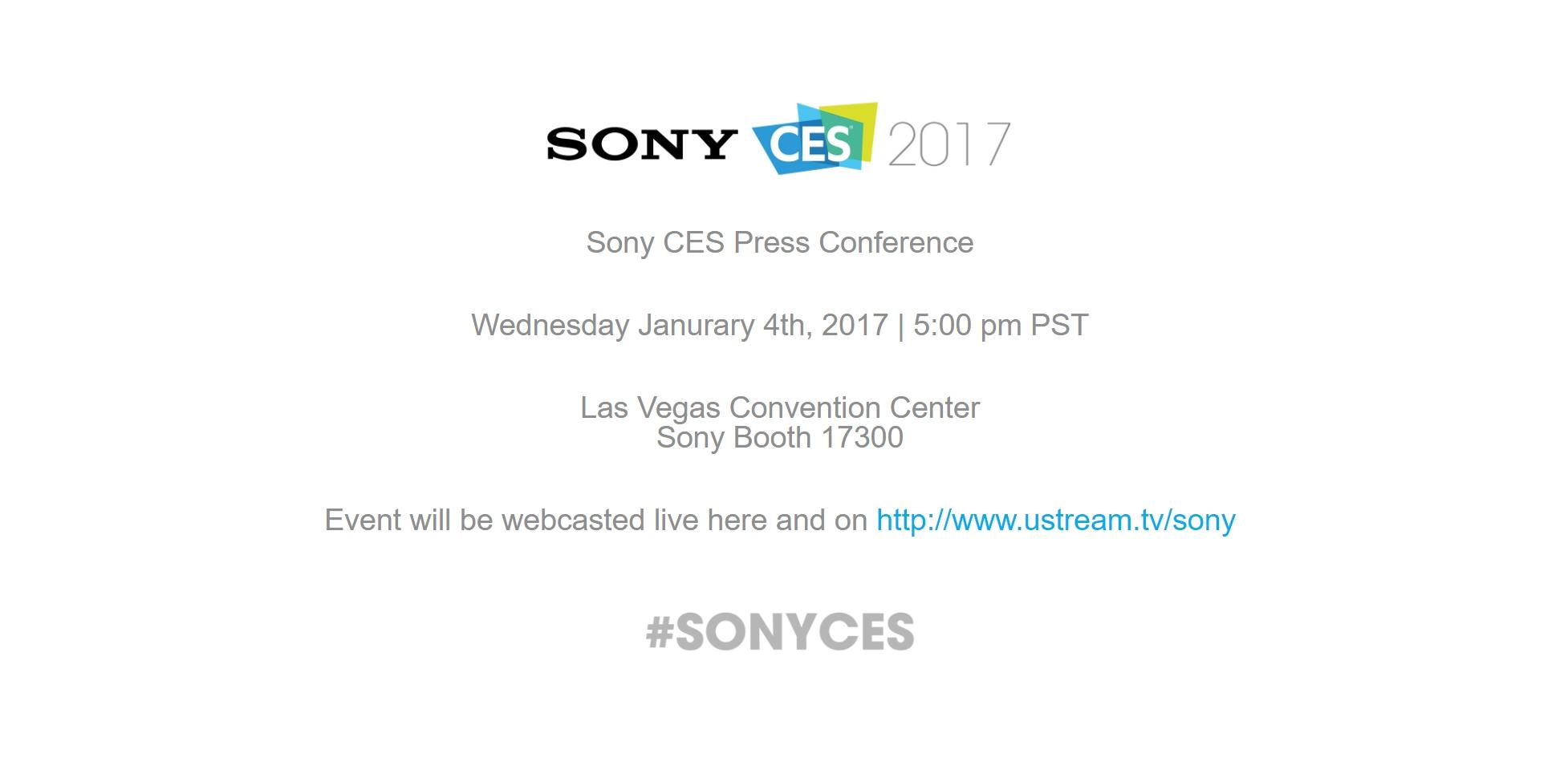 CES 2017 : Sony organisera une conférence de presse le 4 janvier