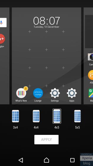 Xperia Home : Sony met à jour son launcher pour changer la densité d'applications simplement