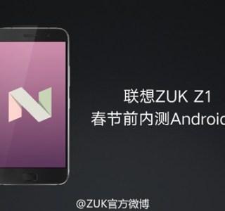 Android 7.0 Nougat : les ZUK Z1 et Z2 Pro auront droit à leur mise à jour