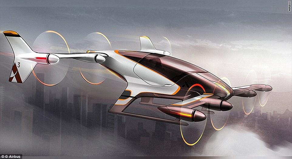 Airbus veut tester ses taxis aériens autonomes d'ici la fin de l'année 2017