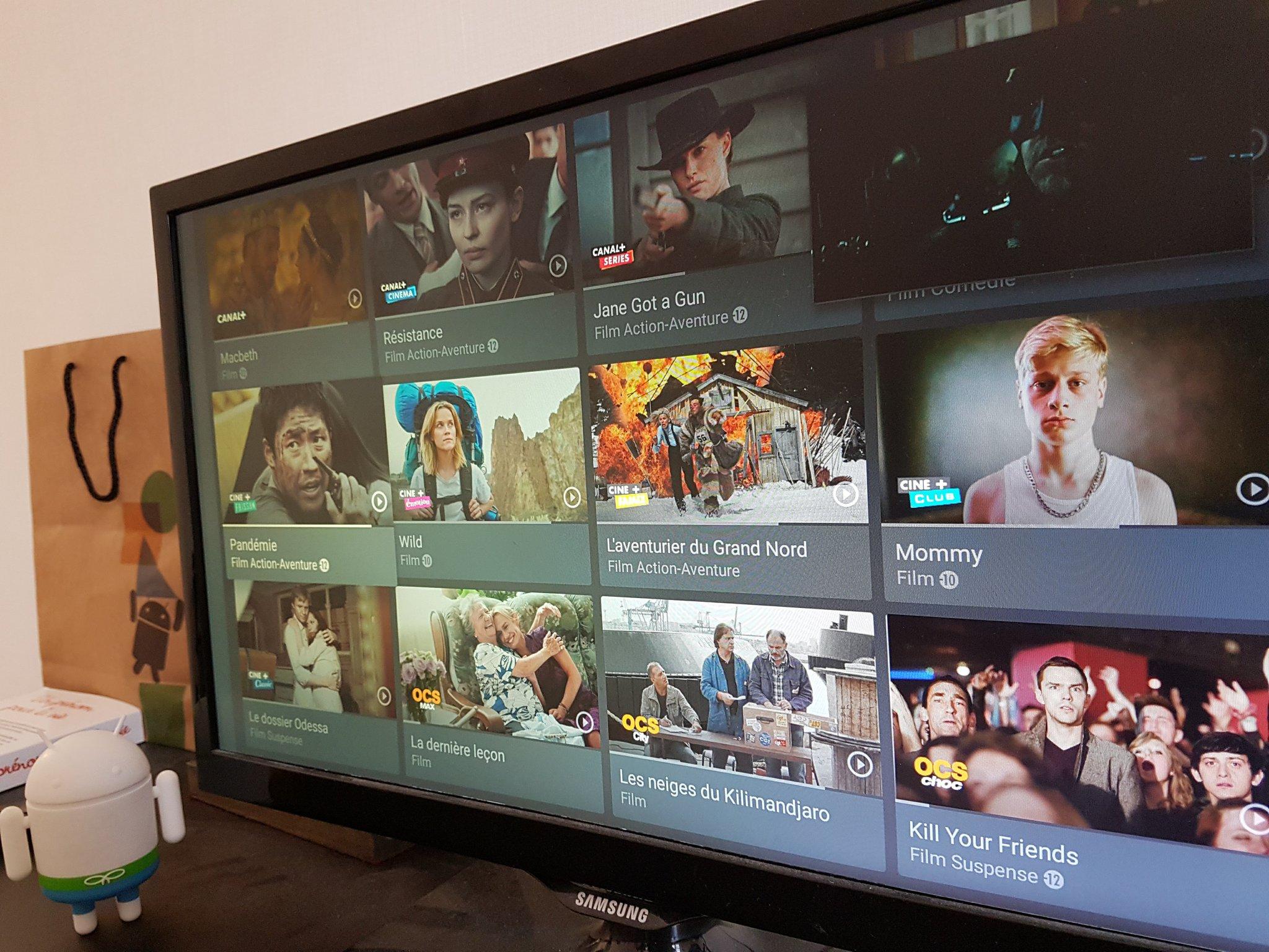 myCanal est disponible sur Android TV, un concurrent de plus pour Molotov
