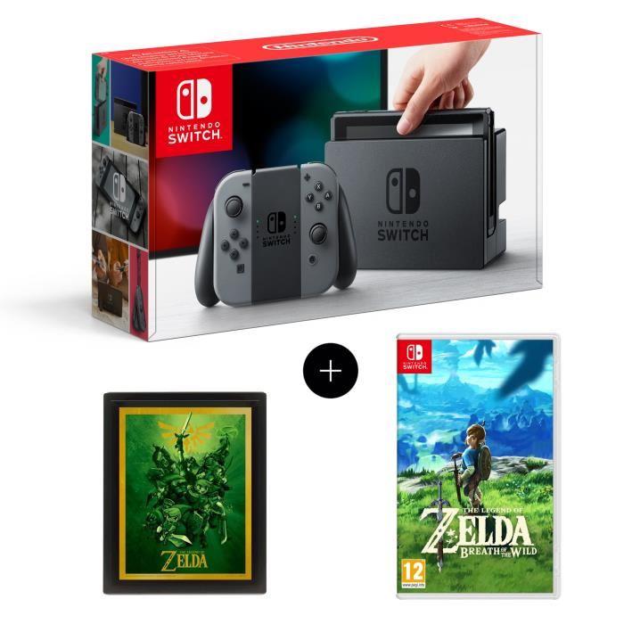 🔥 Bon Plan : La Nintendo Switch + Zelda Breath of the Wild + Un Cadre 3D Zelda à 364,99€ chez Cdiscount