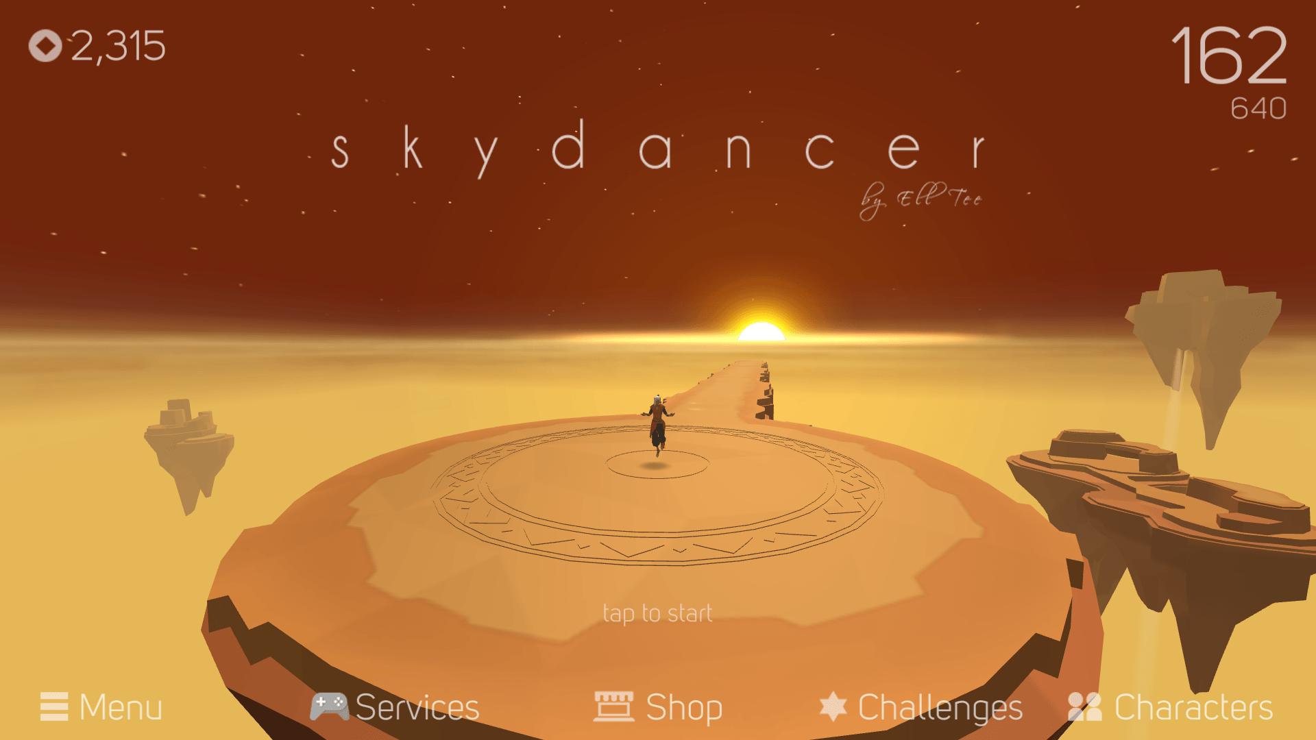 Sky Dancer : le runner sur Android et iOS où la chute devient une belle expérience