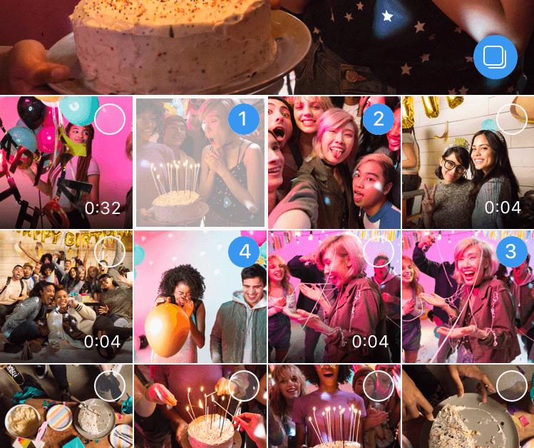 Instagram devance Snapchat avec la publication d'album photo et vidéo