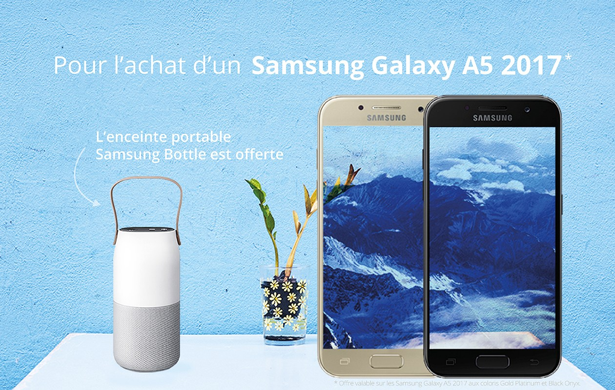 🔥 Bon Plan : la Samsung Sound Bottle offerte avec le Galaxy A5 2017 à la Fnac