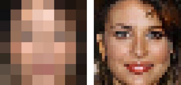 L'IA de Google peut reconstituer un visage à partir d'une image de 64 pixels