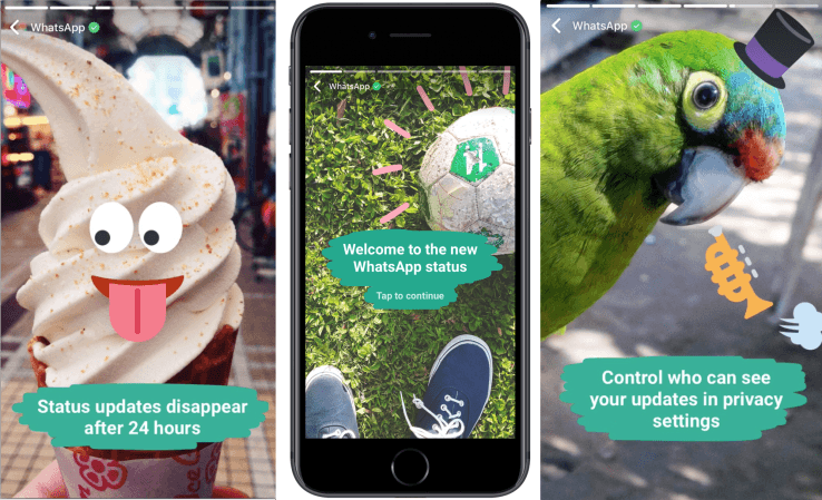 WhatsApp copie les stories de Snapchat avec les « Status »