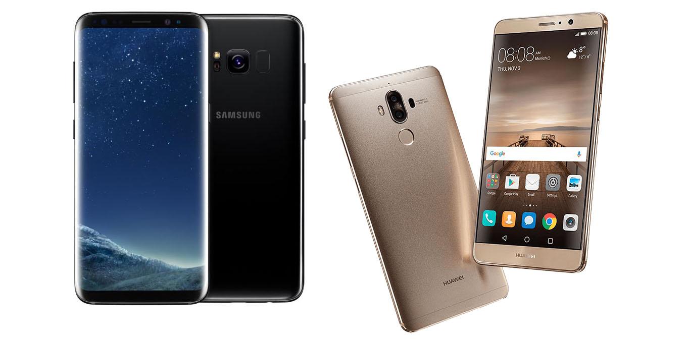Samsung Galaxy S8 Plus vs Huawei Mate 9 : quelle phablette Android choisir ?