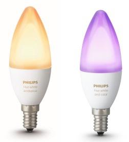 Les ampoules Wi-Fi Philips Hue enfin disponibles en culot E14