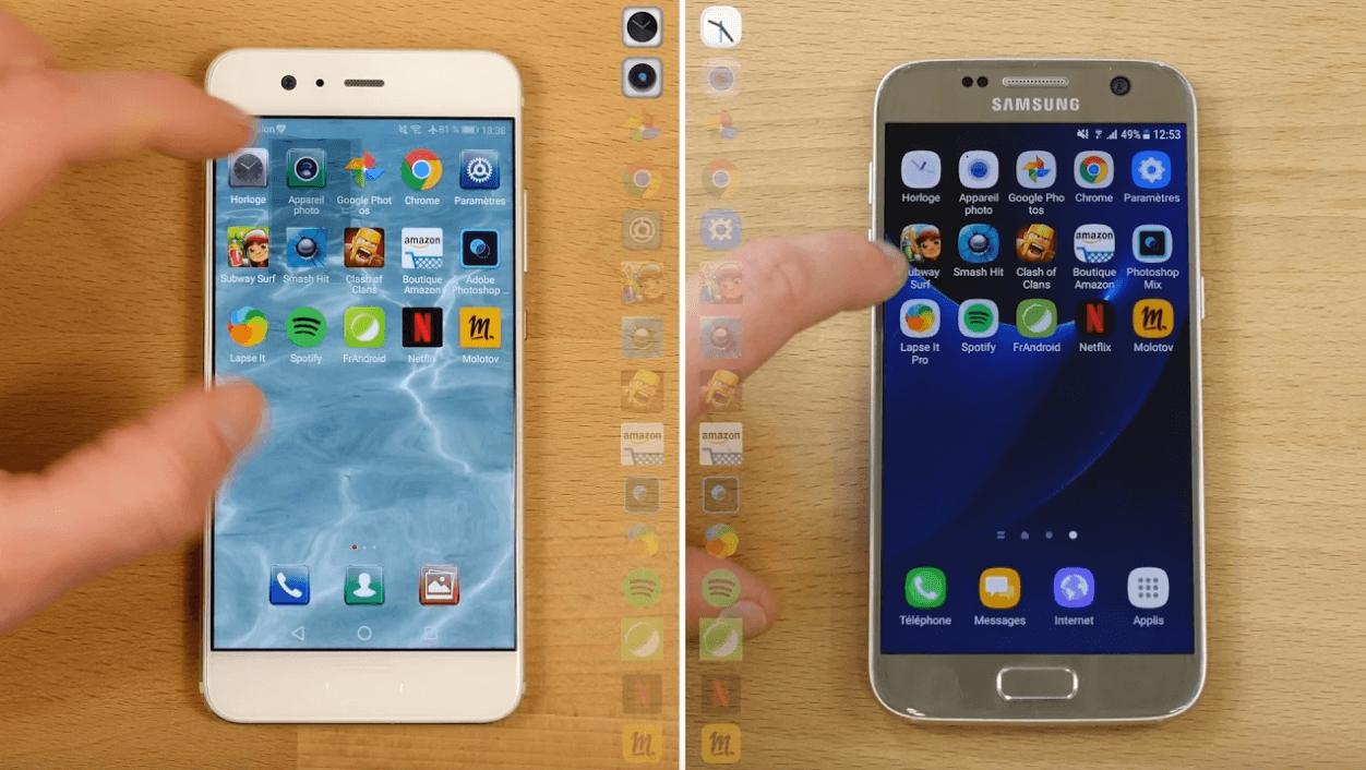 Speedtest vidéo :  que vaut le Huawei P10 face au Samsung Galaxy S7