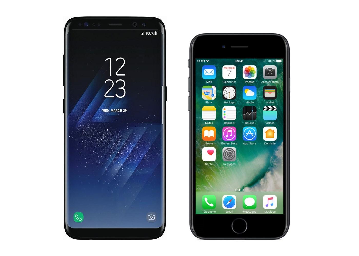 Samsung Galaxy S8 vs Apple iPhone 7 : le coréen ringardise la marque à la pomme