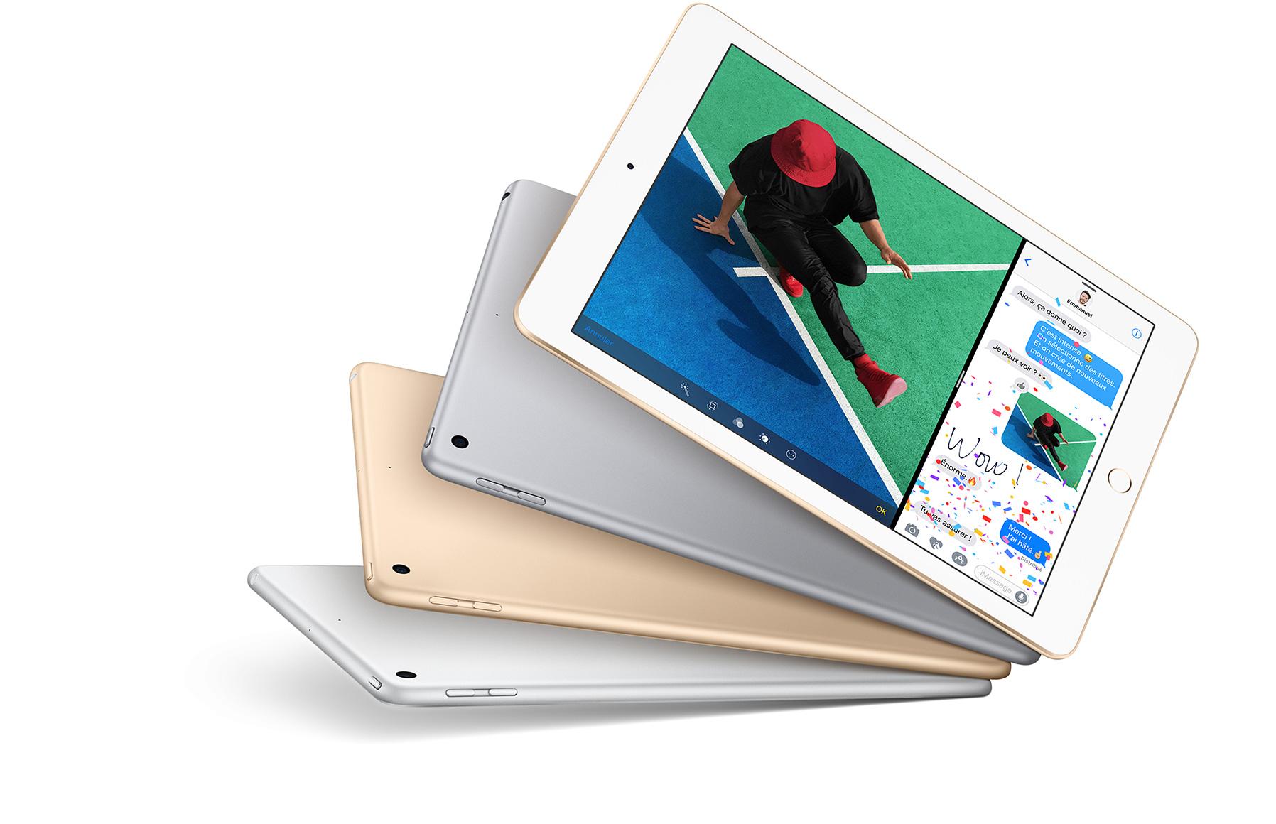 Le dernier iPad est un mélange entre l'Air 1, l'Air 2 et le Pro