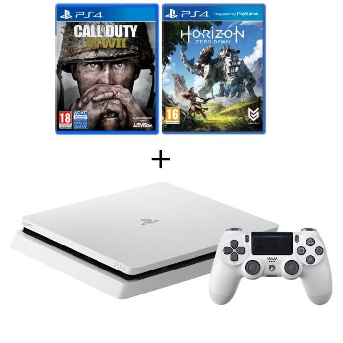 🔥 Black friday : la nouvelle PS4 Slim Glacier + CoD WW II & Horizon : Zero Dawn à 309 euros