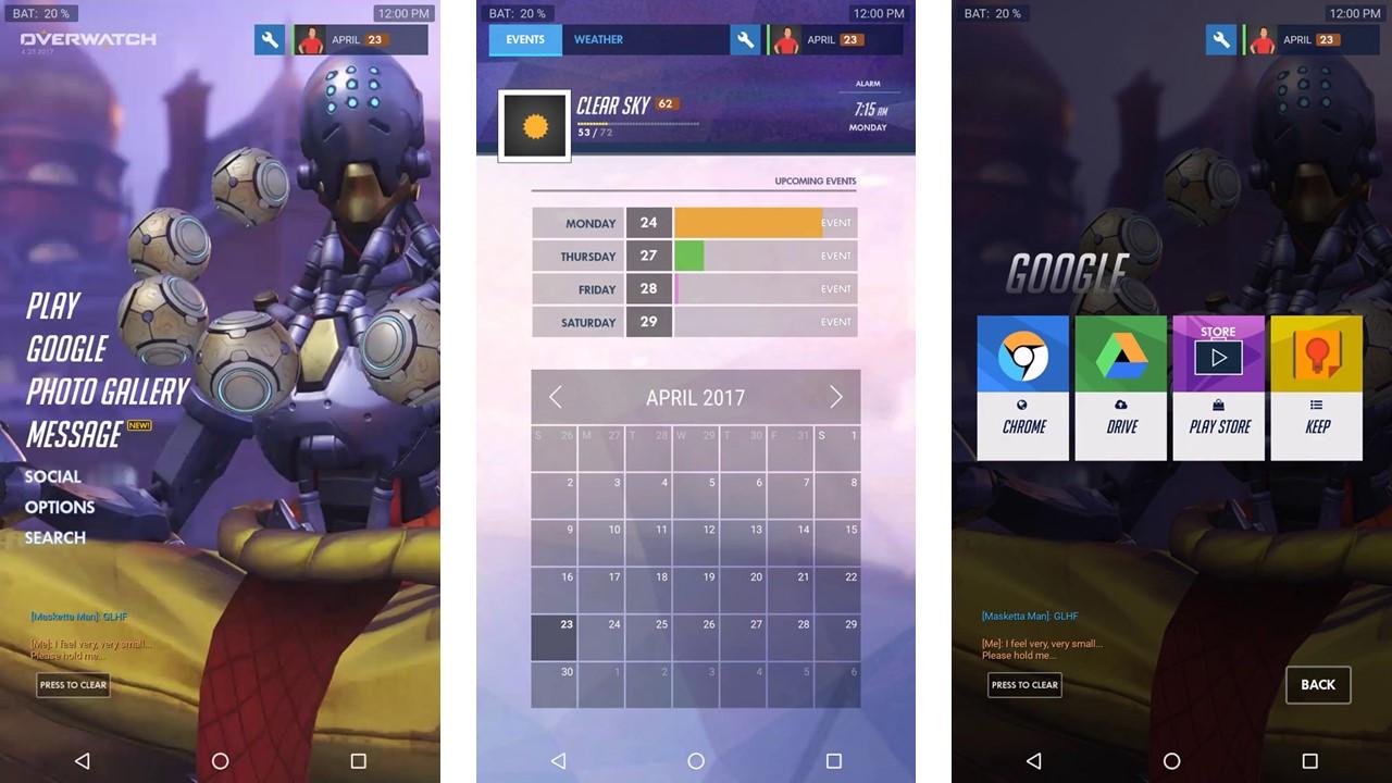 Impressionnant : un thème Overwatch pour Android basé sur KLWP