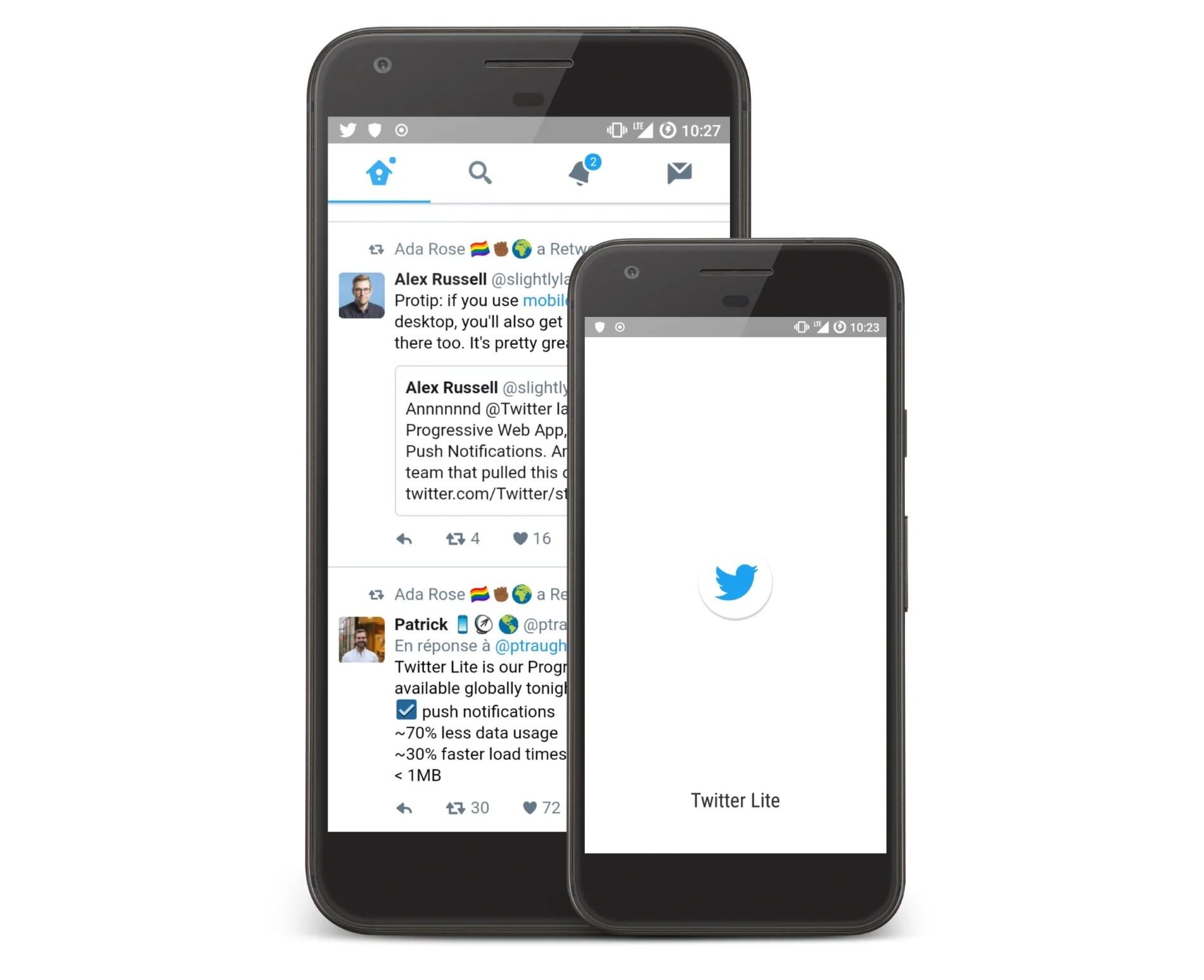 Twitter Lite : une application pour suivre Twitter même en 2G/3G