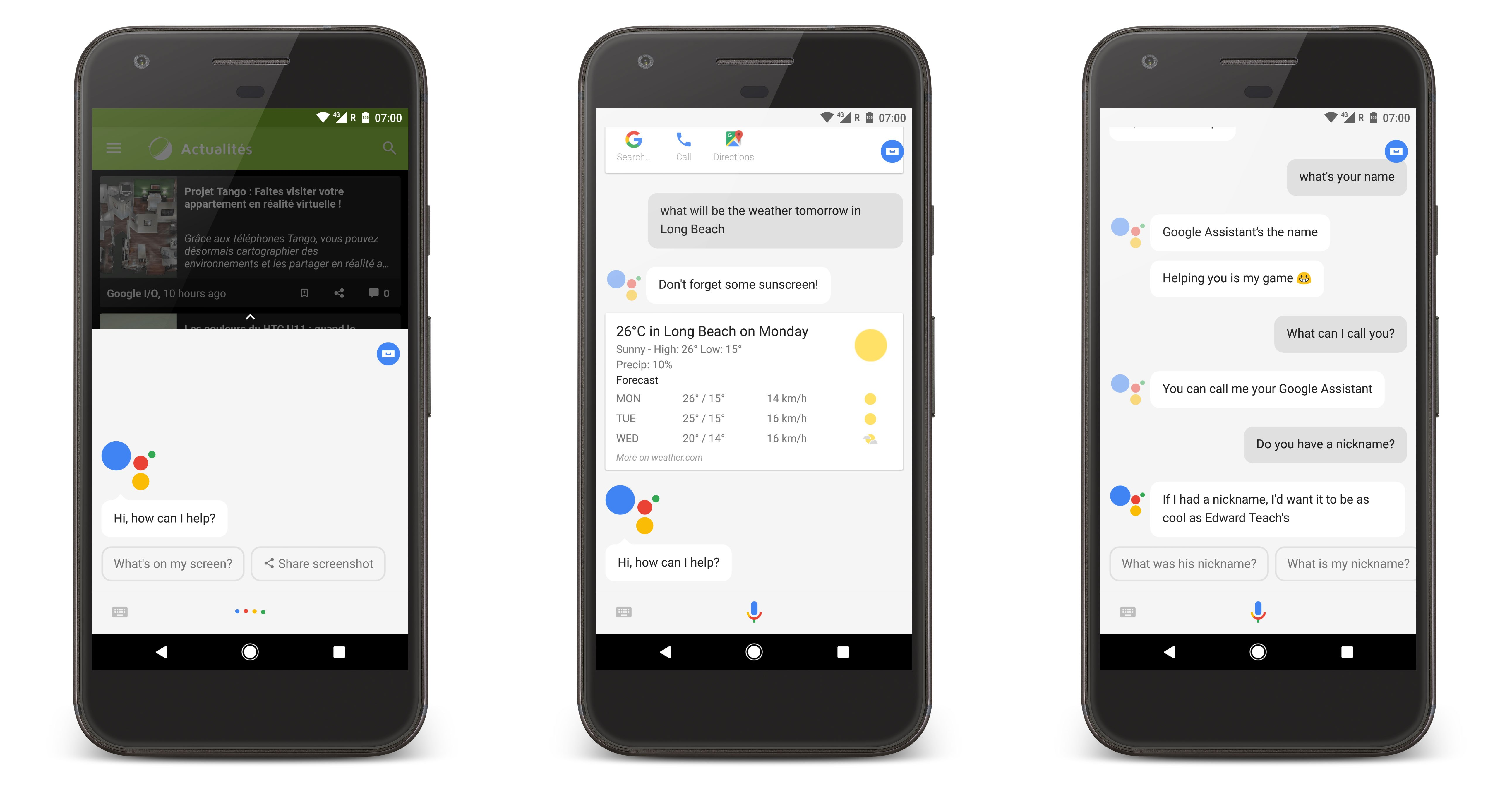 Des captures du nouveau Google Assistant