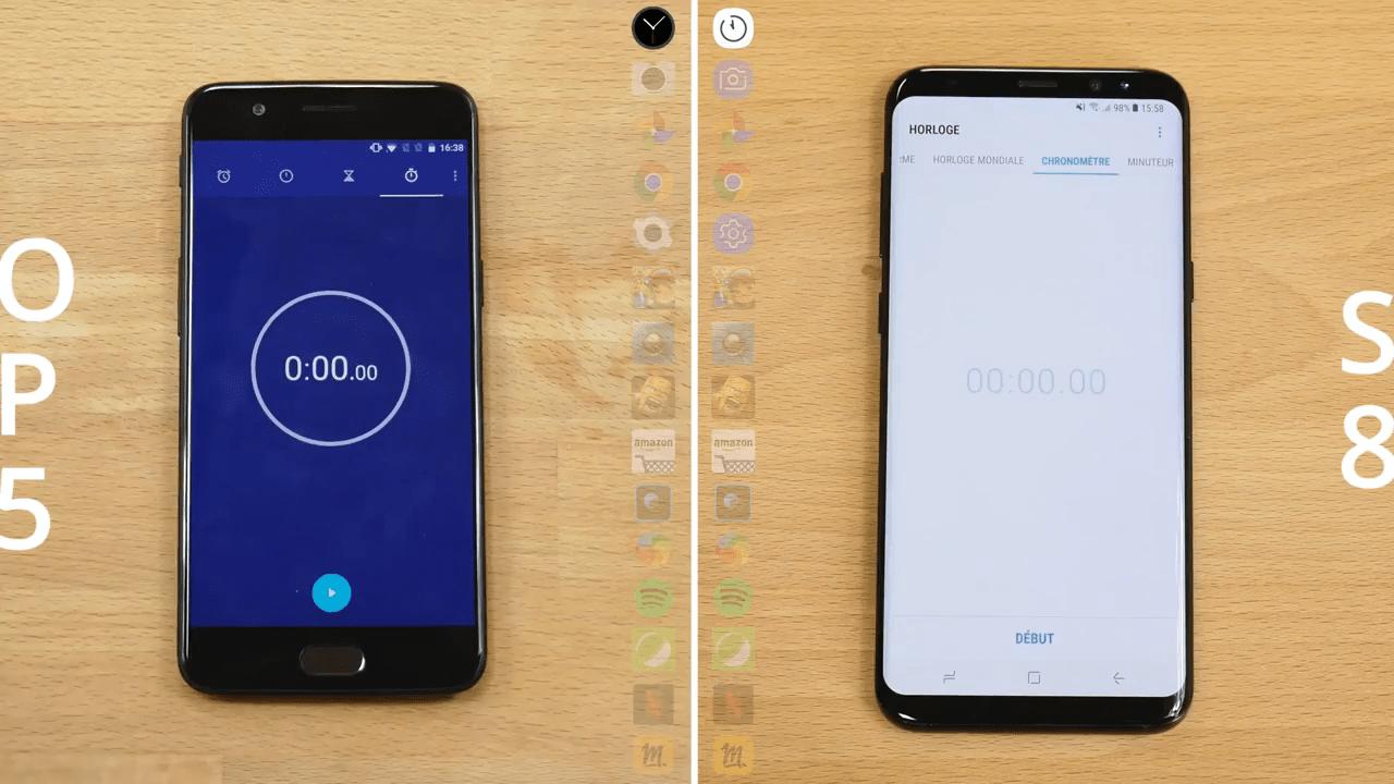 Speedtest: le OnePlus 5 étale le Samsung Galaxy S8