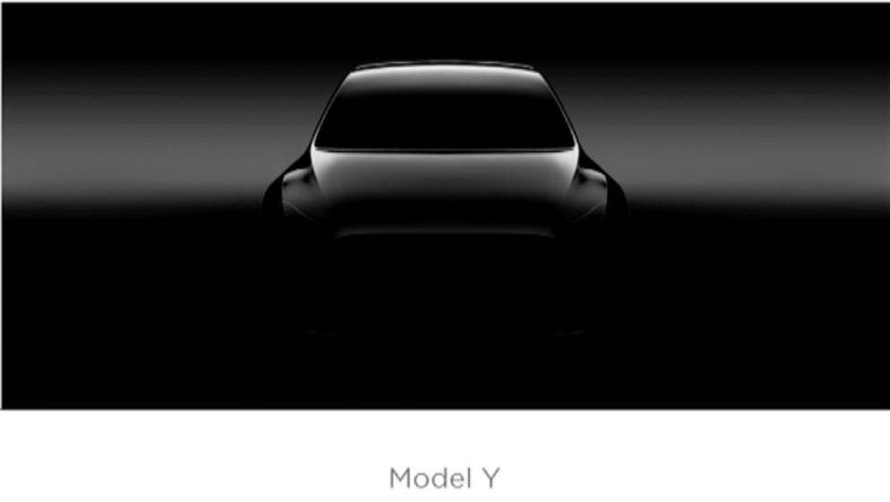 La Tesla Model Y se dévoile (à peine) pour un début de production en 2019