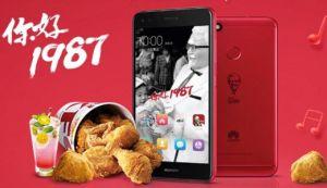 Huawei redessine son Enjoy 7 Plus aux couleurs de KFC en Chine