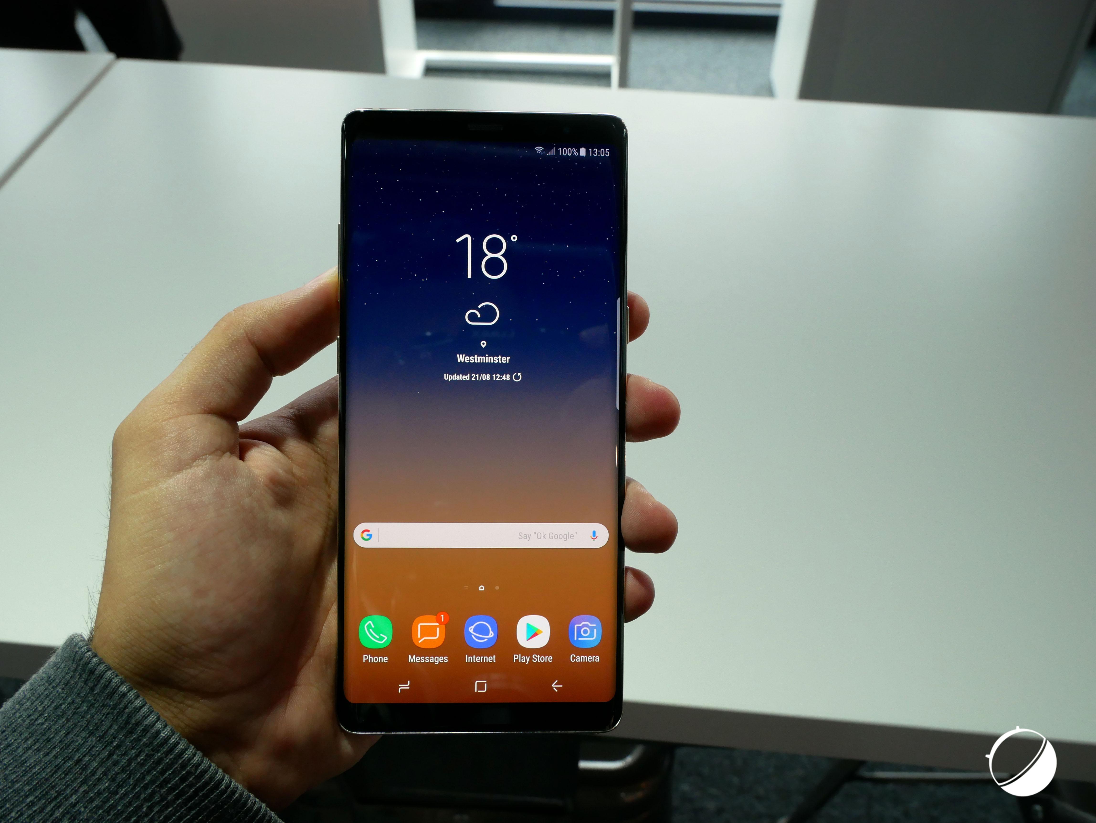 L'écran du Samsung Galaxy Note 8 est incroyablement lumineux