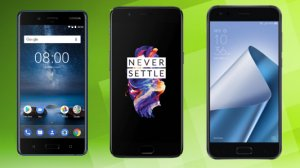 Comparatif: Nokia 8 vs Asus ZenFone 4 Pro vs OnePlus 5