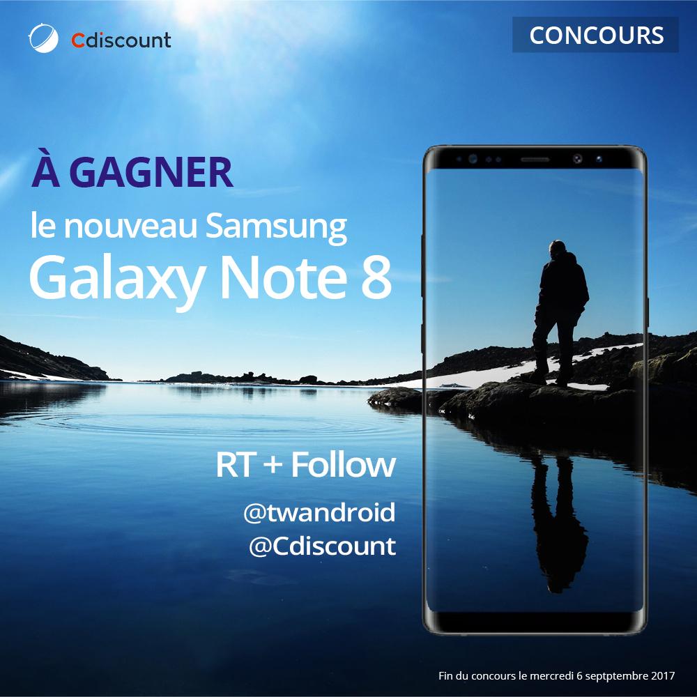 🔥 Concours : gagnez un Samsung Galaxy Note 8 avec Cdiscount et FrAndroid !