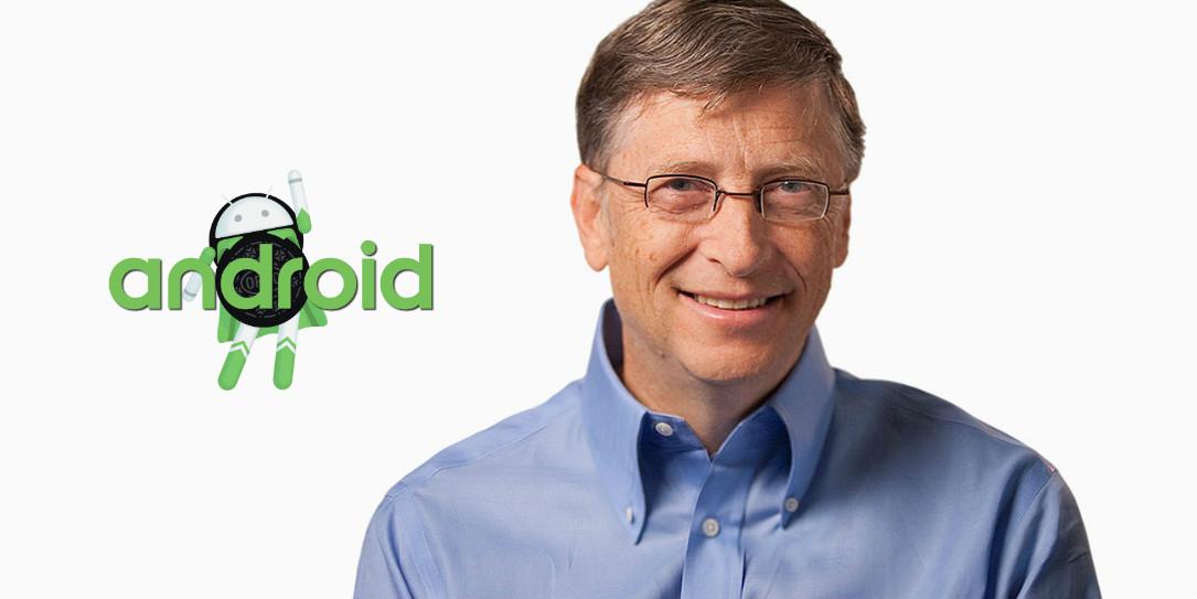 Bill Gates, co-fondateur de Microsoft, roule pour Android