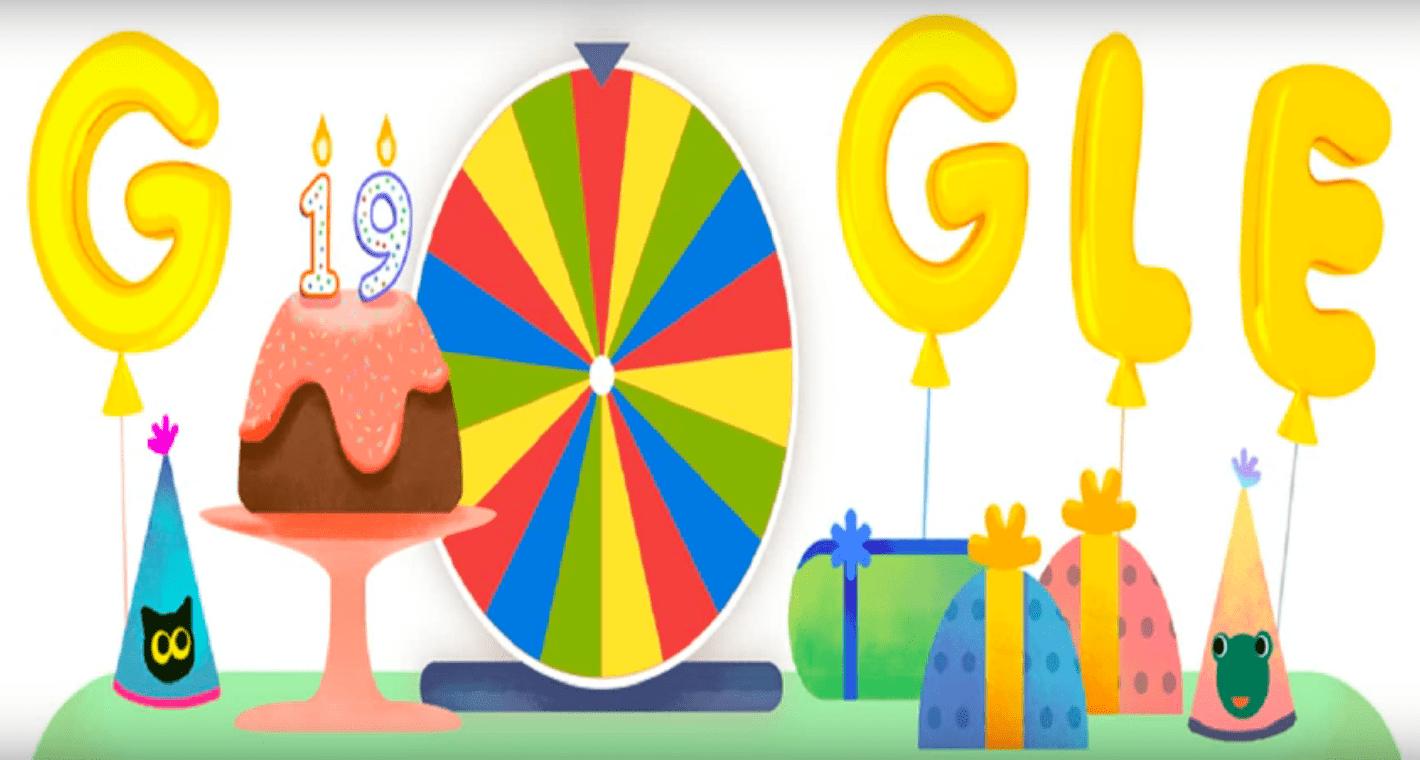 Google fête ses 19 ans avec une série de mini-jeux et une faute de frappe