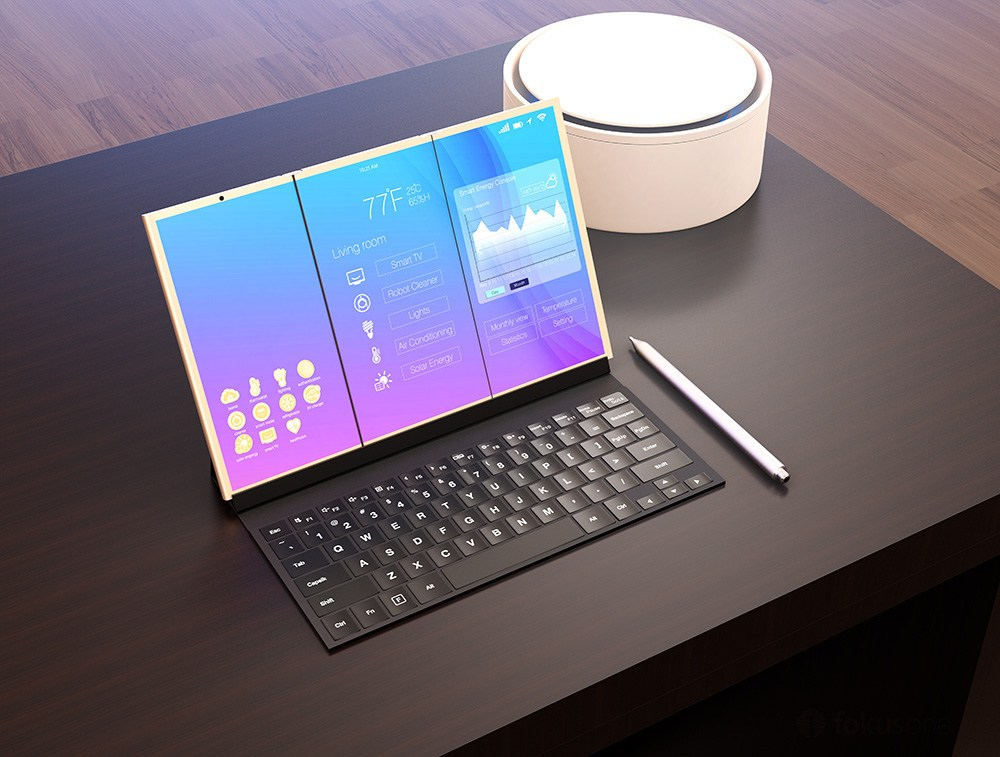 Samsung travaille sur une tablette pliable à écran flexible et clavier physique