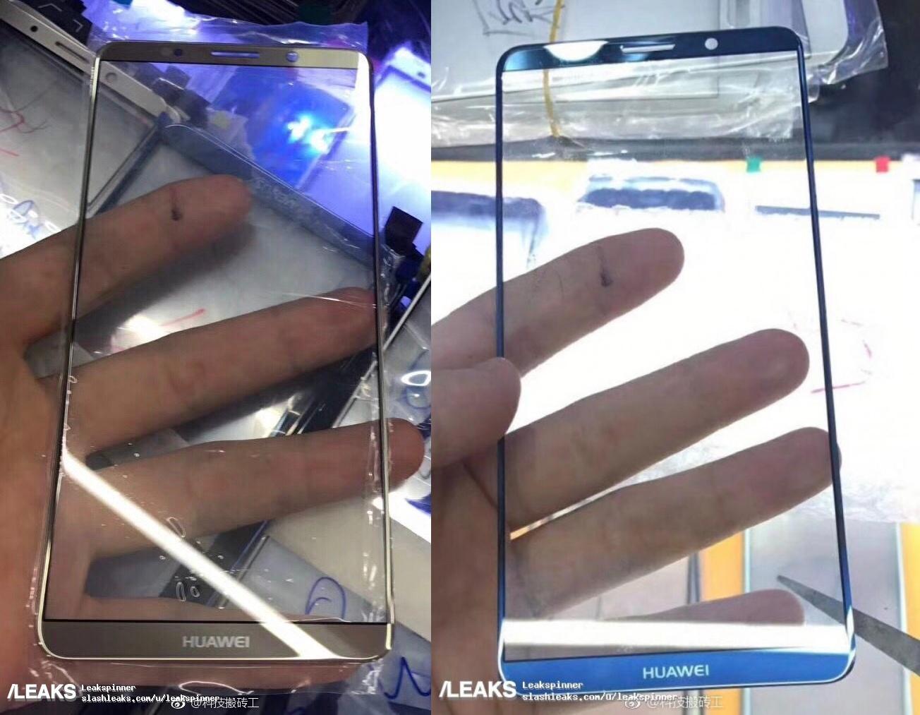 La face avant du Huawei Mate 10 Pro fuite et révèle un écran sans bordures