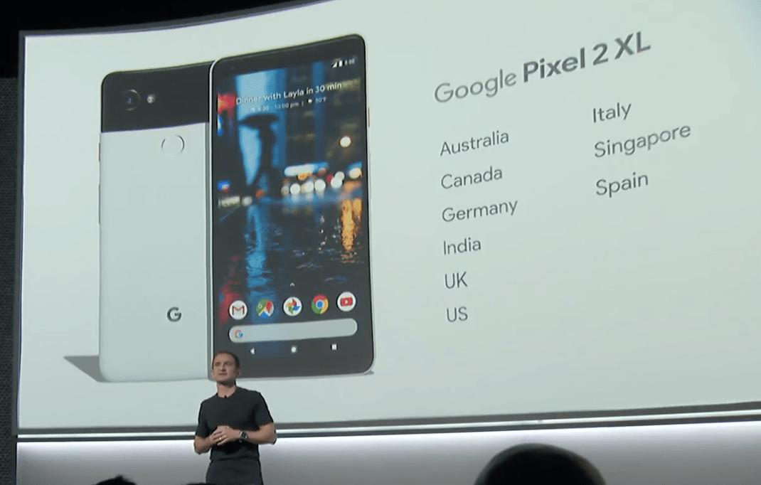 Les Google Pixel 2 et Pixel 2 XL ne sortiront pas en France