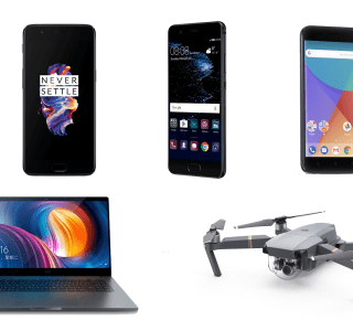 5 offres du weekend sur GearBest : Xiaomi Mi Notebook, Xiaomi Mi A1, OnePlus 5, Huawei P10 et DJI Mavic Pro