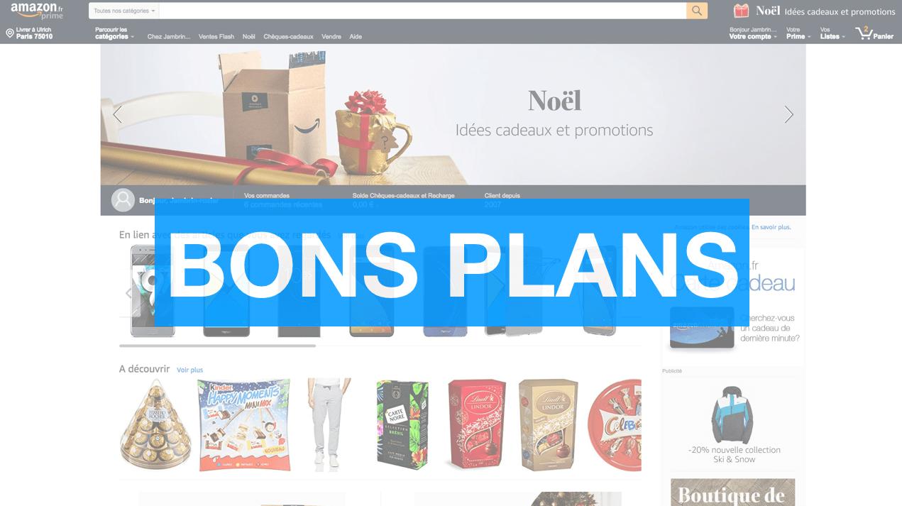 Notre sélection des meilleurs bons plans Amazon pour Noël 2017