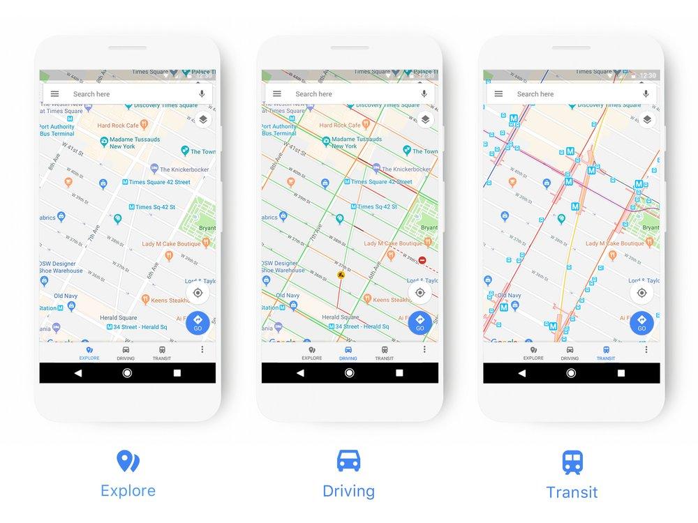 Google Maps : de nouveaux éléments de design pour simplifier son utilisation