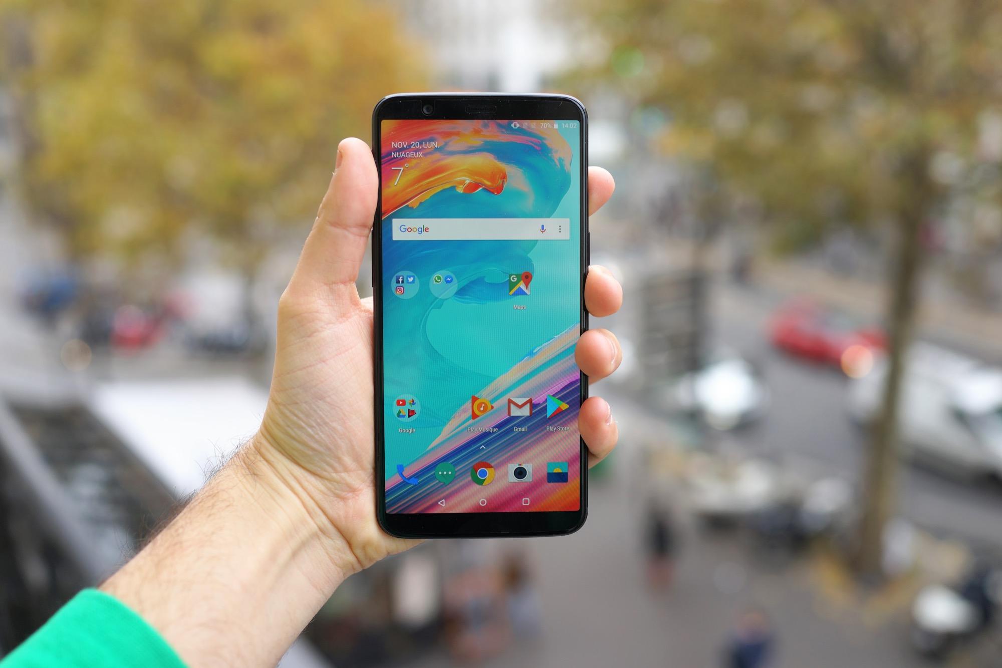 OnePlus 5 et 5T : Android 9.0 Pie pointe doucement le bout de son nez