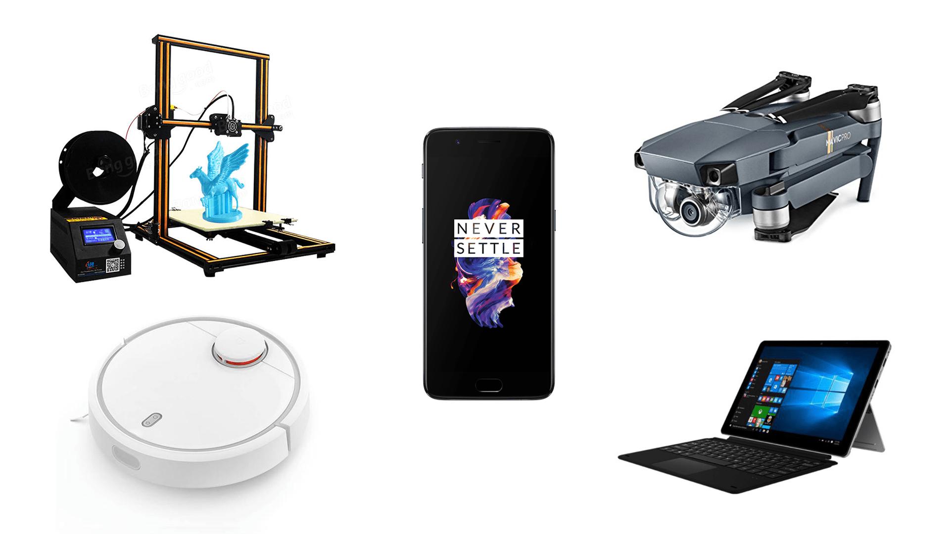 7 offres de la semaine sur GearBest : OnePlus 5, Xiaomi Mi Notebook Pro, DJI Mavic Pro, etc.