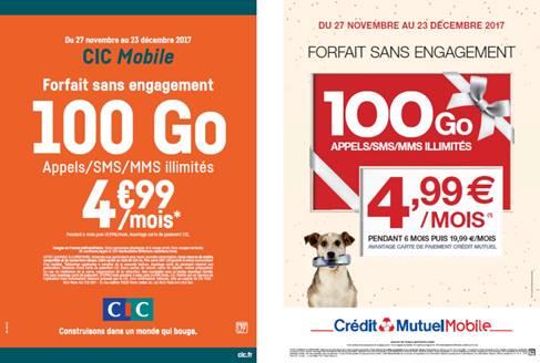 🔥 Bon plan : forfait 100 Go à partir de 4,99 euros par mois chez Crédit Mutuel Mobile et CIC Mobile