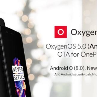 OnePlus 5 : la mise à jour vers Android Oreo (8.0) est disponible