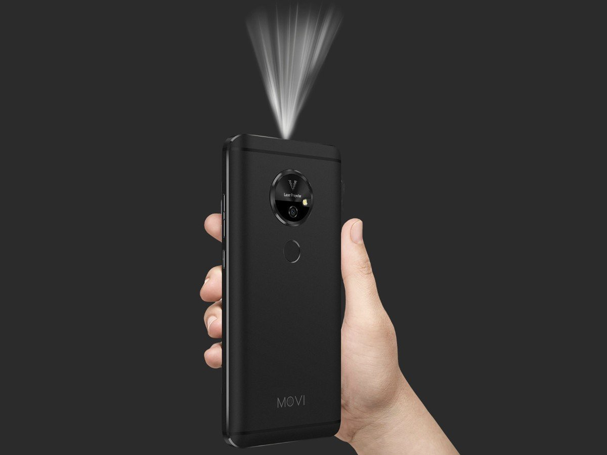 Moviphone : un smartphone Android avec son pico-projecteur